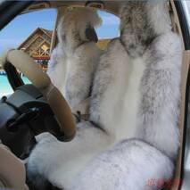 Авточохол з Новозеландської овчини (білий з темними кінчиками)