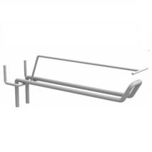 Крючок торговый двойной с ценникодержателем для перфорированной стенки 300