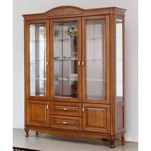 Двухдверная деревянная витрина Анна