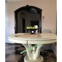 Стол в гостиную «Эдельвейс» со стульями из массива дерева