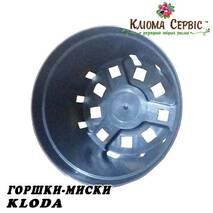 Горщики миски для хризантеми, 3 л KLODA (Польща) чорний