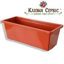 Балконний ящик для кольорів, 40 см Терракот