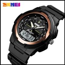 Спортивные часы Skmei 1454 красное золото 50 m водонепроницаемые (5АТМ)