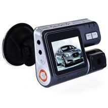 Видеорегистратор DVR i1000 на 2 камеры с поворотной главной камерой