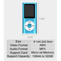 HiFi MP4-плеер MP4 1.8д серебро в стиле iPod миталический корпус Поддержка fm Радио TF карты MP4 видео