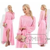 Платье макси прямое из шифона женское,норма р.42-46  Фабрика Моды