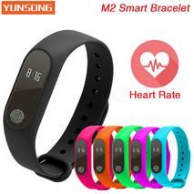 Фитнесс браслет Fitness bracelet M2 черный с Монитором Сердечного ритма