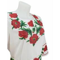Красивое платье с вышитыми маками и корсетным поясом купить в Черкассах