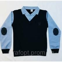 Сорочка-обманка сині рукави