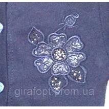 Кофта для дівчинки на гудзиках з вишивкою на 7-11 років