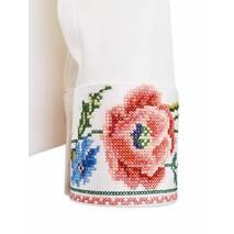 Рубашка с вышитыми маками на манжетах купить в Украине