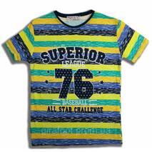 """Футболка смужка """"Superior"""" на 9-12 років, в зростання. 4 шт."""
