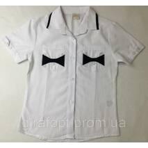 Блузка школьная для девочек с коротким рукавом 6-9 лет