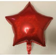 Шар в форме звезды галогенный, красного цвета