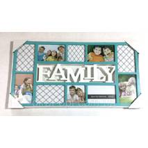 "Колаж на 10 фото ""Family"" бірюза"