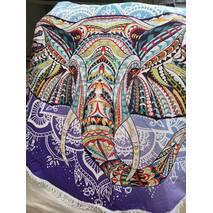 """Пляжное покрывало круглое .Подстилка.Полотенца.Коврик.""""Индийский слон"""""""