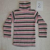 Водолазка утепленная детская в полоску на 5-8 лет в ассортименте