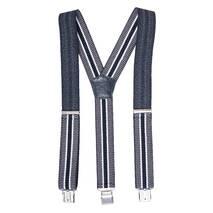 Чоловічі підтяжки Braces класичні сірий чорний   (BR1013)