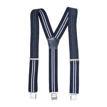 Чоловічі підтяжки Braces класичні темно-синій білий   (BR1011)