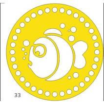 Денце для в'язаних кошиків кругле різьблене 180 мм
