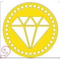 Денце для в'язаних кошиків кругле різьблене 220 мм