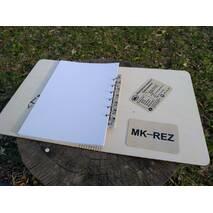 Блокнот дерев'яний  з обкладинкою з фанери А5 формат 60 сторінок на кільцях