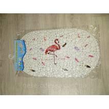 """Антискользящий коврик на присосках в ванную """"Flamingo"""""""