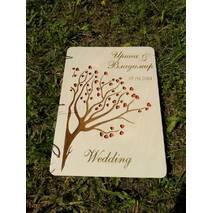 Дерев'яний весільний альбом для побажань