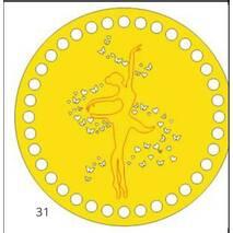 Денце для в'язаних кошиків кругле різьблене 280 мм