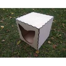 Домик лежанка для кошек из фанеры