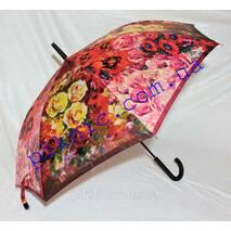 Жіноча парасолька тростина напівавтомат. Парасолька від дощу