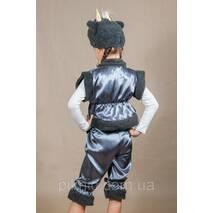 Дитячий костюм Баранчик, Овечка, Бісик 4,5,6,7 роки. Новорічний карнавальний для хлопчиків і дівчаток. Сірий