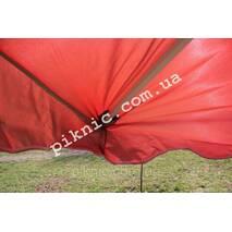 Парасолька торгова, садовий 2х2м (Срібло Клапан). Потужна парасолька для вуличної торгівлі. Червоний!