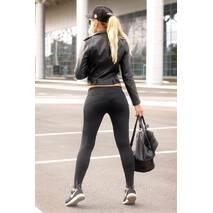 Спортивные лосины XL (50-52) Лосины женские для танцев фитнеса спорта тренировок Серый