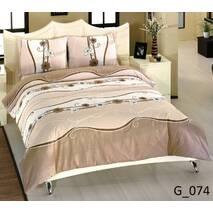 Двухспальное евро постельное белье бязь голд