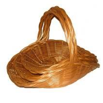 Набор плетеных корзин-цветочников из лозы Корал из 3шт.