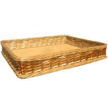 Лоток плетеный из лозы Корал h5-45*29 (цена с доставкой)