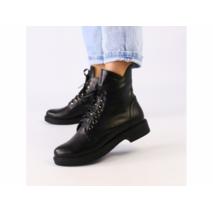 Ботинки зимние женские из натуральной кожи черные 40
