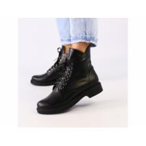 Ботинки демисезонные женские из натуральной кожи черные 41