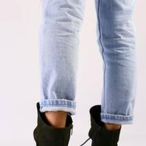 Женские демисезонные ботинки оливковые, нубук кожа 40