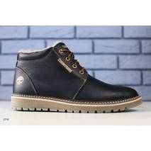 Зимние кожаные черные ботиночки