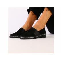 Женские туфли из черной замши 40
