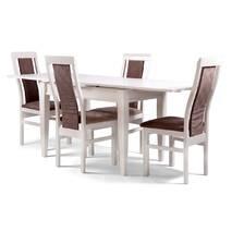 Белый раскладной стол Шахар из дерева