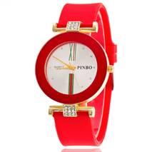 Часы ABF красные W124