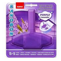 Блок для унітаза освіжуючий Sanobon з ароматом лаванди до 800 зливів. 55 гр.