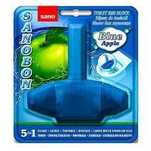 Блок для унітаза освіжуючий Sanobon з ароматом яблука до 800 зливів. 55 гр.
