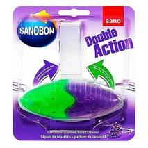 "Блок для унитаза освежающий ""Лаванда"" Sano Sanobon Double Action Lavander 55 гр."