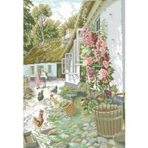 Рисунок на канве для вышивки нитками мулине 81713 Сельский двор