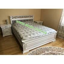 Деревянная двуспальная кровать Ларго
