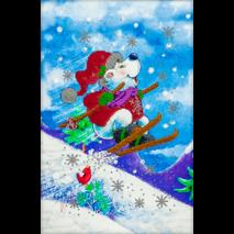 """Схема для вышивания бисером """"Новогодний мишка-3"""" FLS-074"""